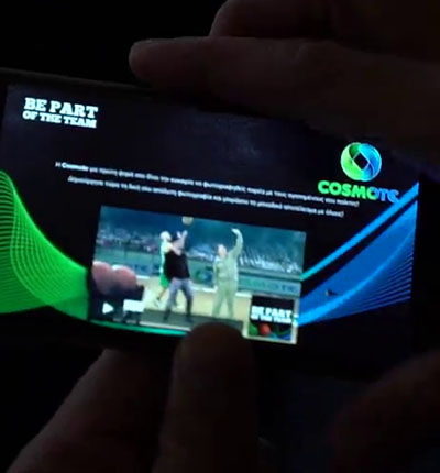 Cosmote Panathinaikos Selfie Video Activation