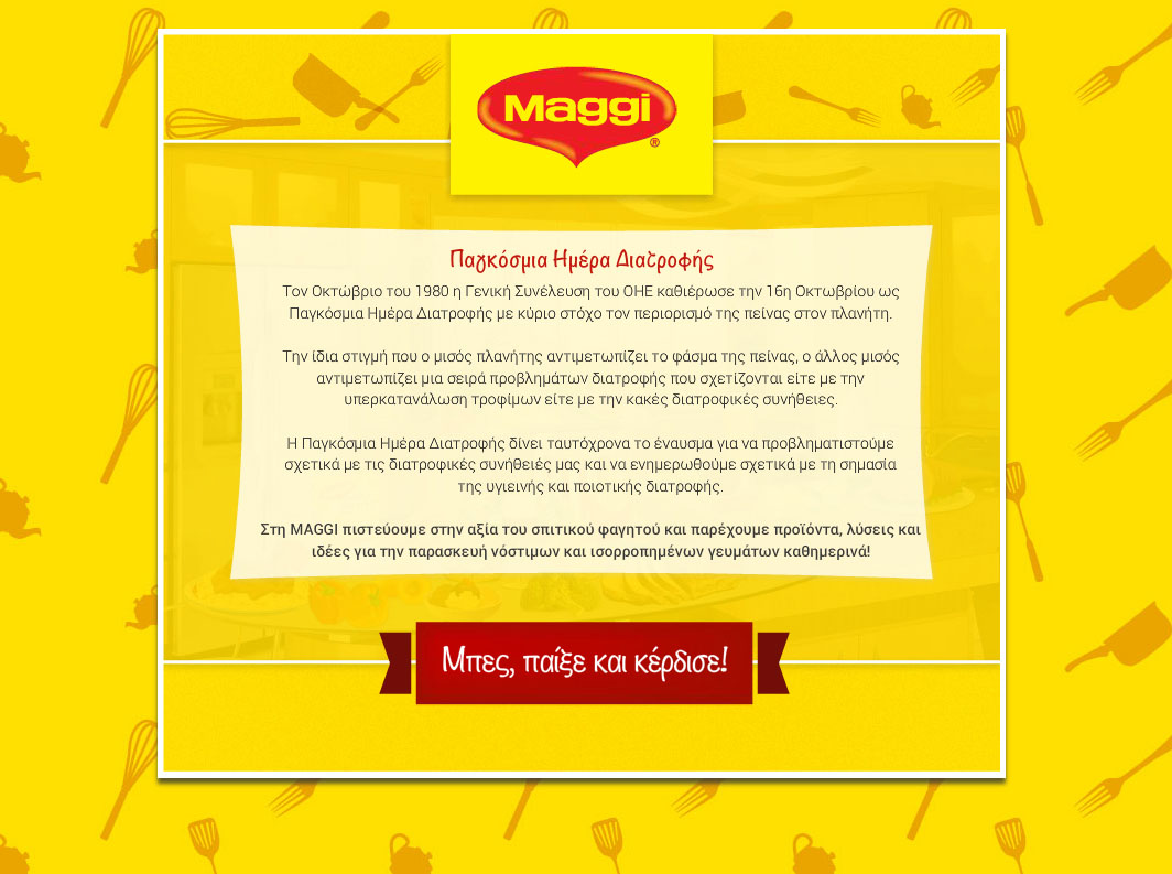 Maggi Game World Food Day